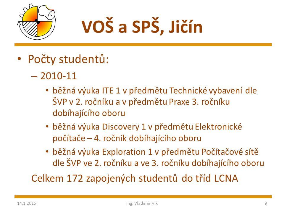 VOŠ a SPŠ, Jičín Umístění výuky – praktická část výuky v laboratoři mikroprocesorové techniky a v učebnách VT – výhled – specializovaná laboratoř – šk.