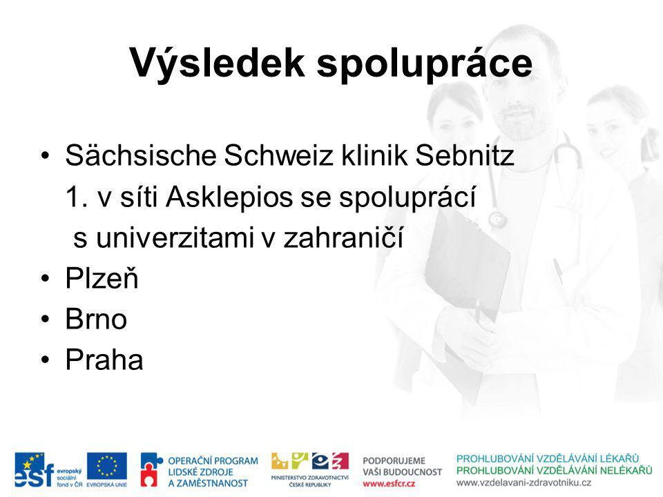 Výsledek spolupráce Sächsische Schweiz klinik Sebnitz 1.