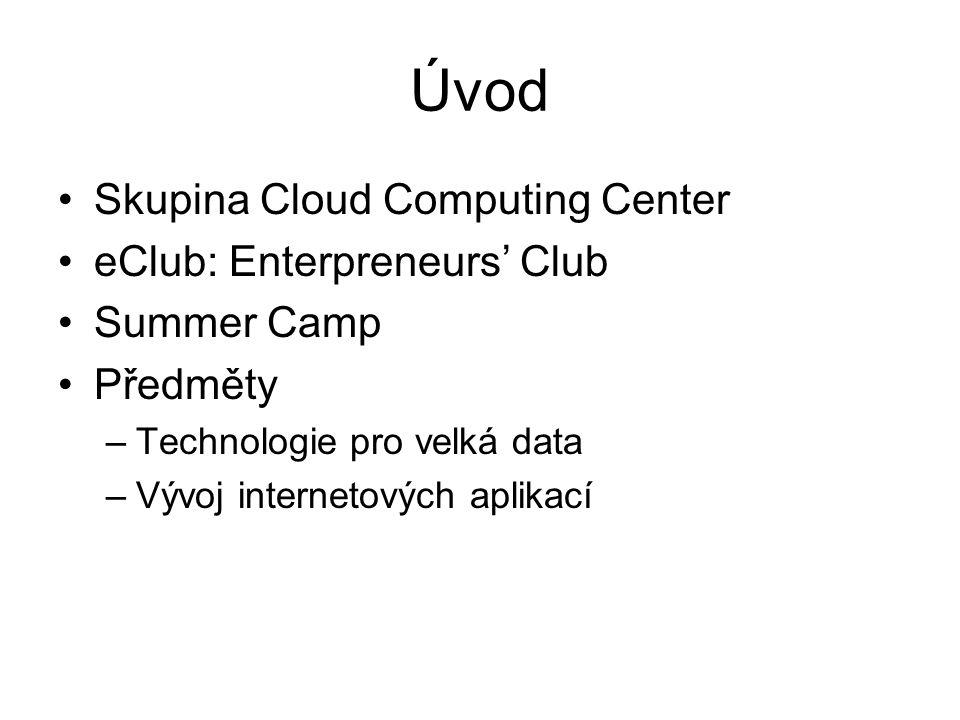 Cloud Computing Center Malá výzkumná skupina Vedoucí: Ing.