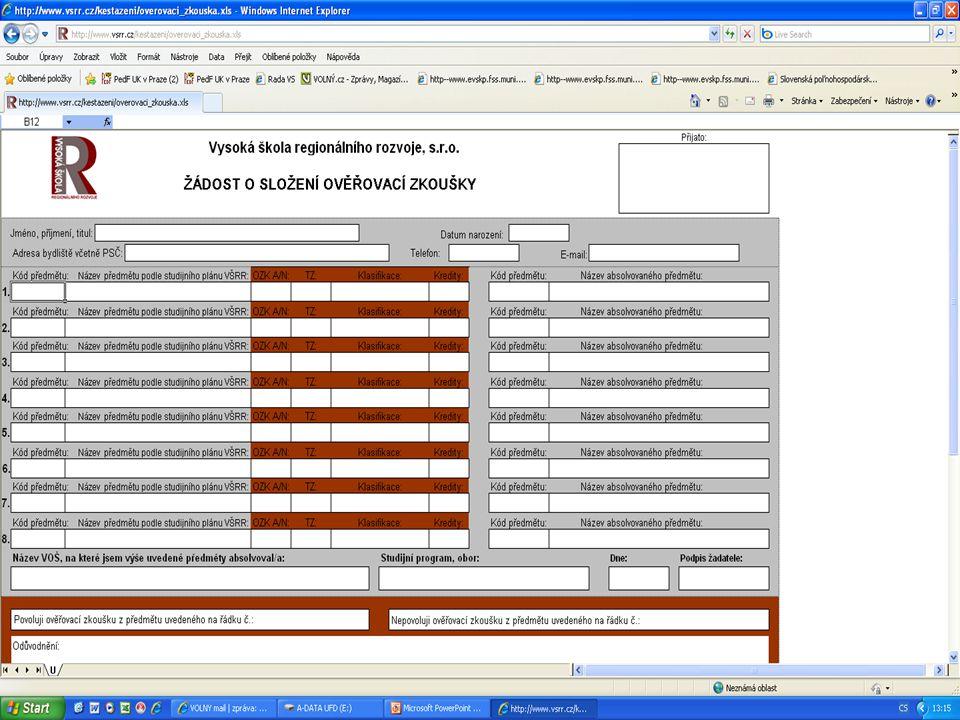 Termíny přijímacích pohovorů 1.kolo: 15.3. 2011 2.