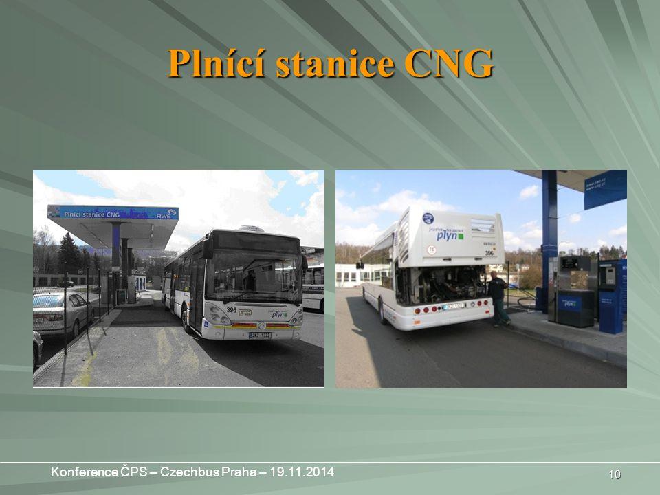 10 Plnící stanice CNG Konference ČPS – Czechbus Praha – 19.11.2014