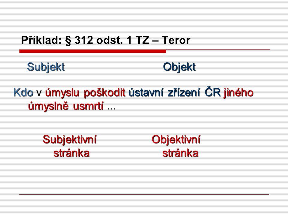 Příklad: § 312 odst.