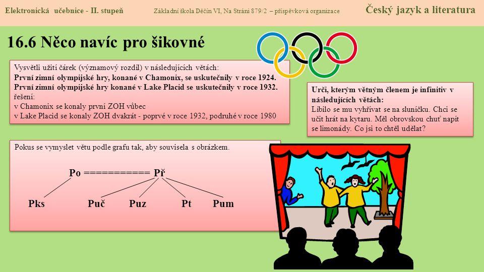 16.7 CLIL (Parts of sentence) Elektronická učebnice - II.