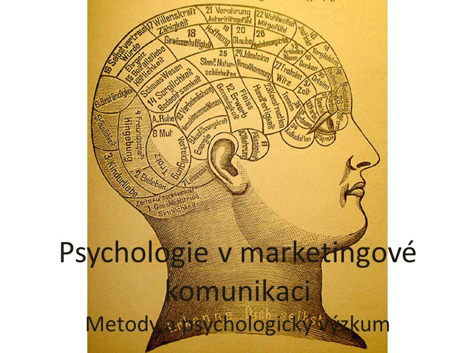Psychologie v marketingové komunikaci Metody a psychologický výzkum