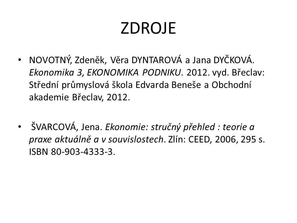 ZDROJE NOVOTNÝ, Zdeněk, Věra DYNTAROVÁ a Jana DYČKOVÁ.