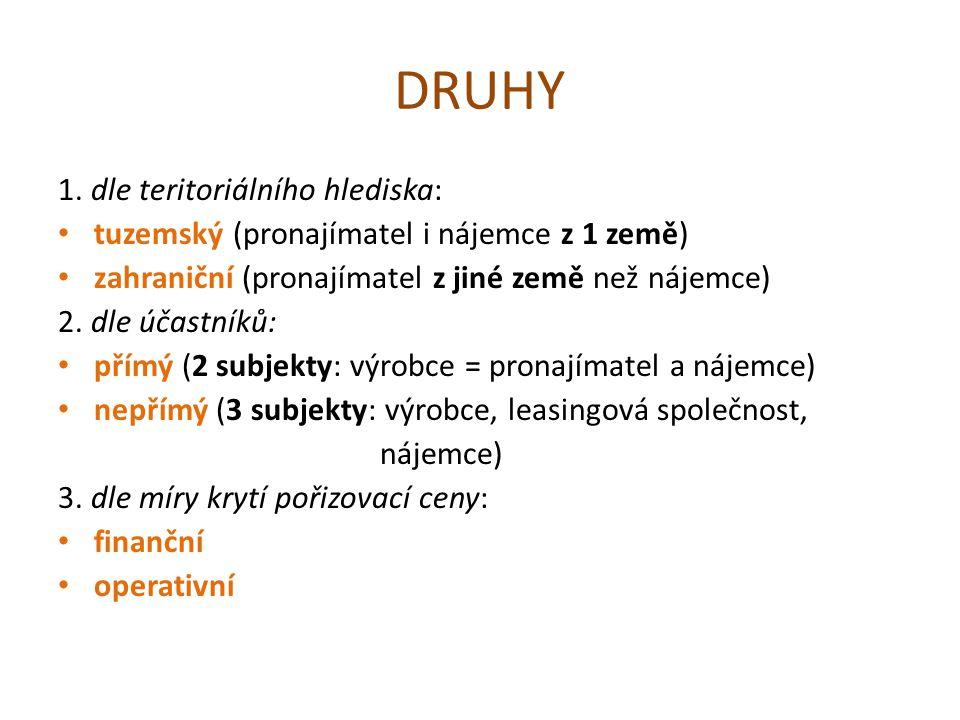 DRUHY 1.