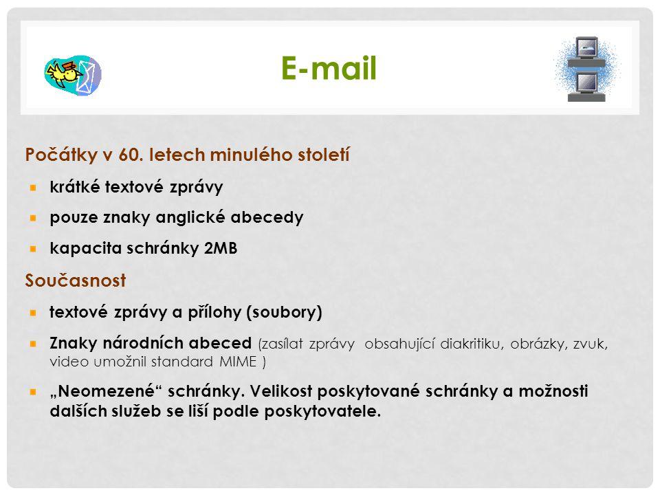 E-mail Počátky v 60.