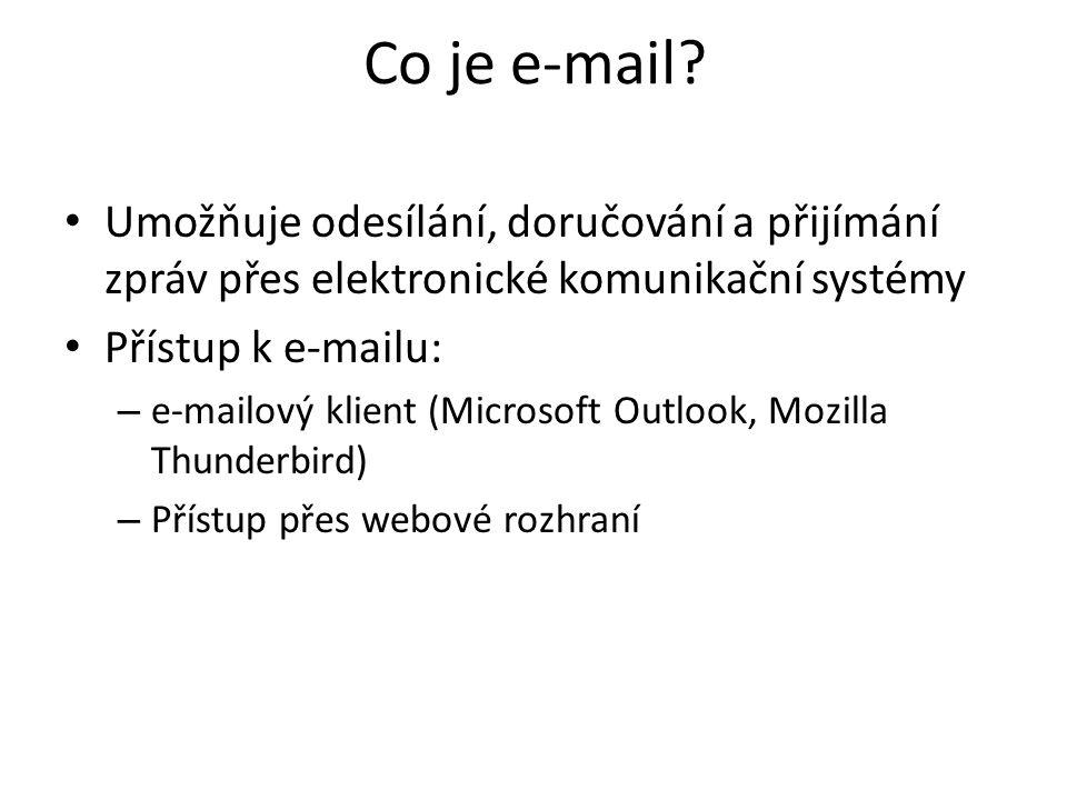 Co je e-mail.