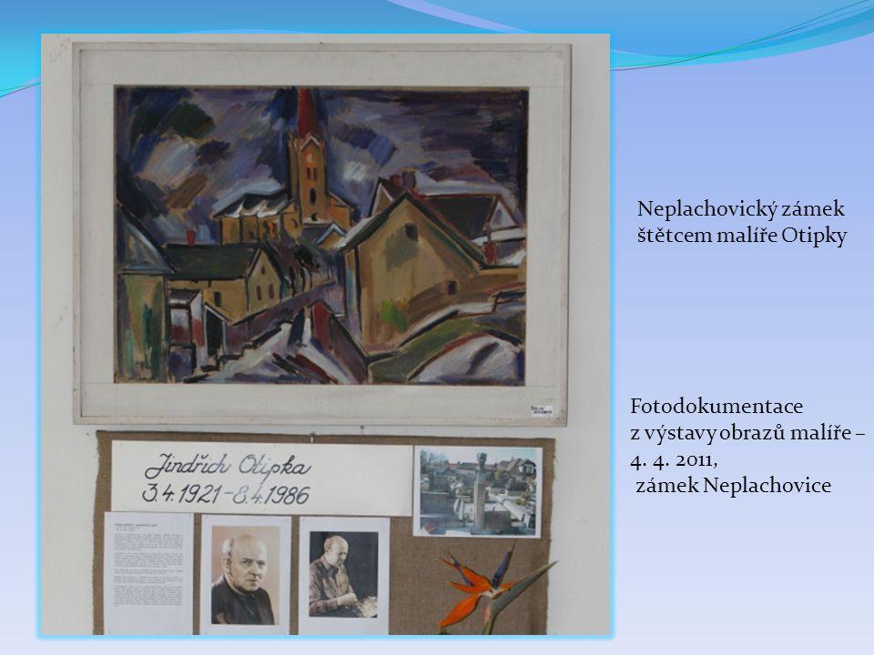 Zajímavosti Prodejní výstava obrazů na zámku v Neplachovicích, 4.