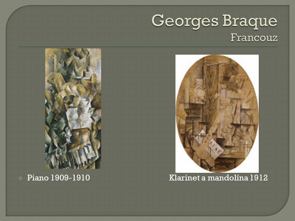  Piano 1909-1910 Klarinet a mandolína 1912