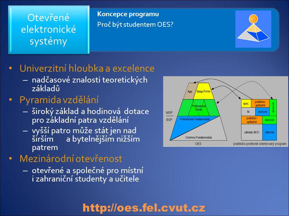 Univerzitní hloubka a excelence – nadčasové znalosti teoretických základů Pyramida vzdělání – široký základ a hodinová dotace pro základní patra vzděl