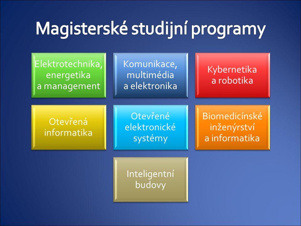 Elektrotechnika, energetika a management Komunikace, multimédia a elektronika Kybernetika a robotika Otevřená informatika Otevřené elektronické systém