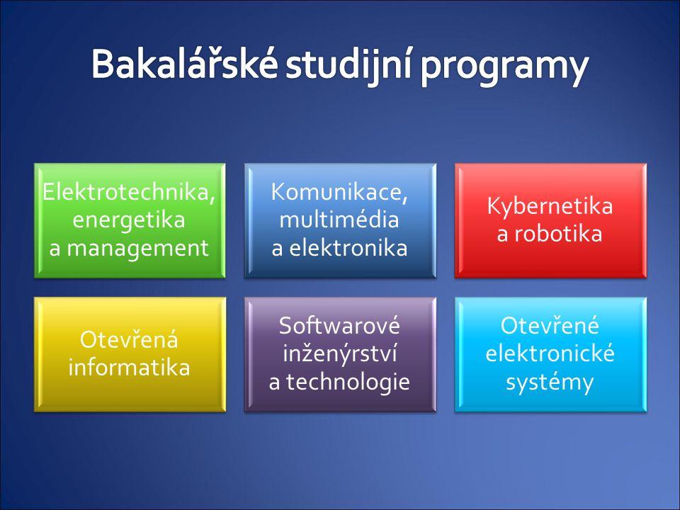Elektrotechnika, energetika a management Komunikace, multimédia a elektronika Kybernetika a robotika Otevřená informatika Softwarové inženýrství a tec