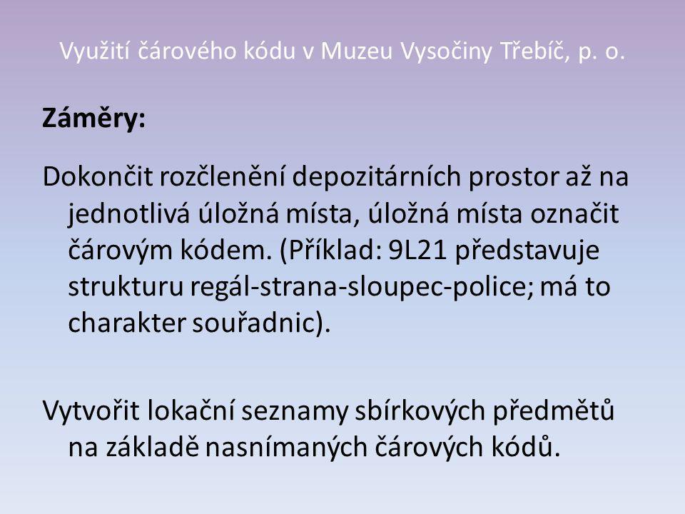 Využití čárového kódu v Muzeu Vysočiny Třebíč, p. o.
