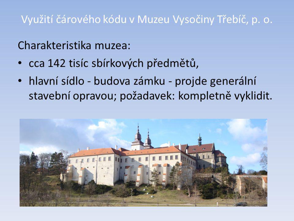 Využití čárového kódu v Muzeu Vysočiny Třebíč, p. o. Nová budova depozitáře muzea.