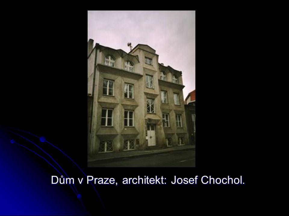 Dům v Praze, architekt: Josef Chochol.