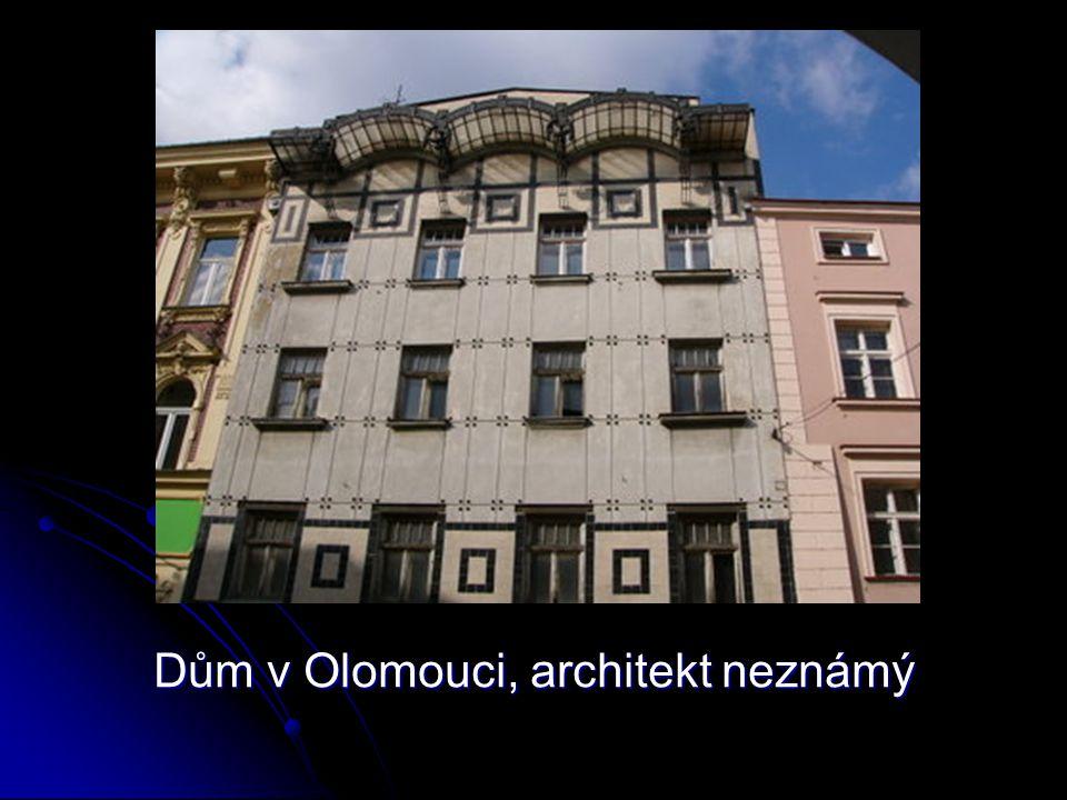 Dům v Olomouci, architekt neznámý
