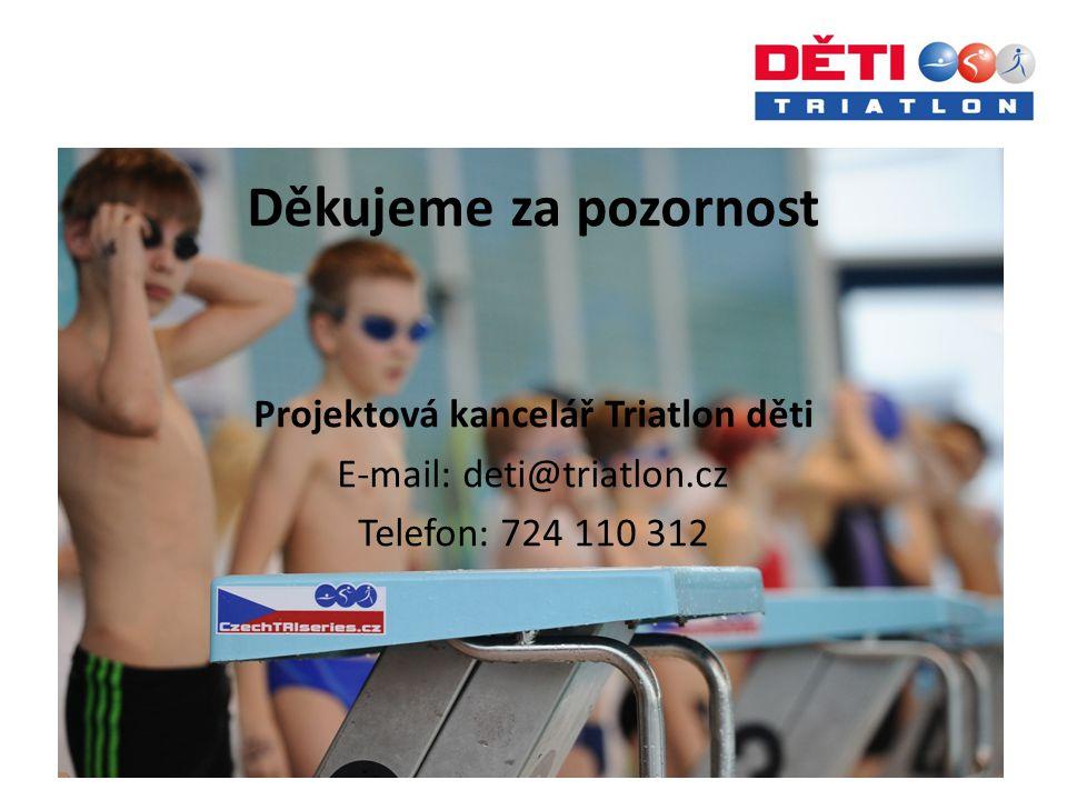 Děkujeme za pozornost Projektová kancelář Triatlon děti E-mail: deti@triatlon.cz Telefon: 724 110 312