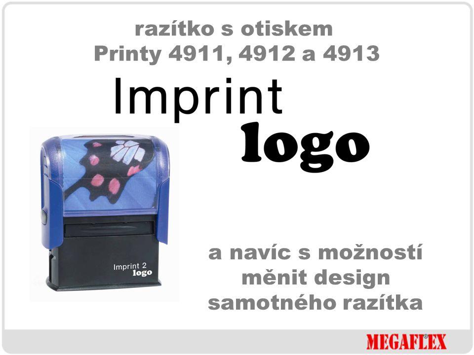 razítko s otiskem Printy 4911, 4912 a 4913 ve standardních barevných kombinacích