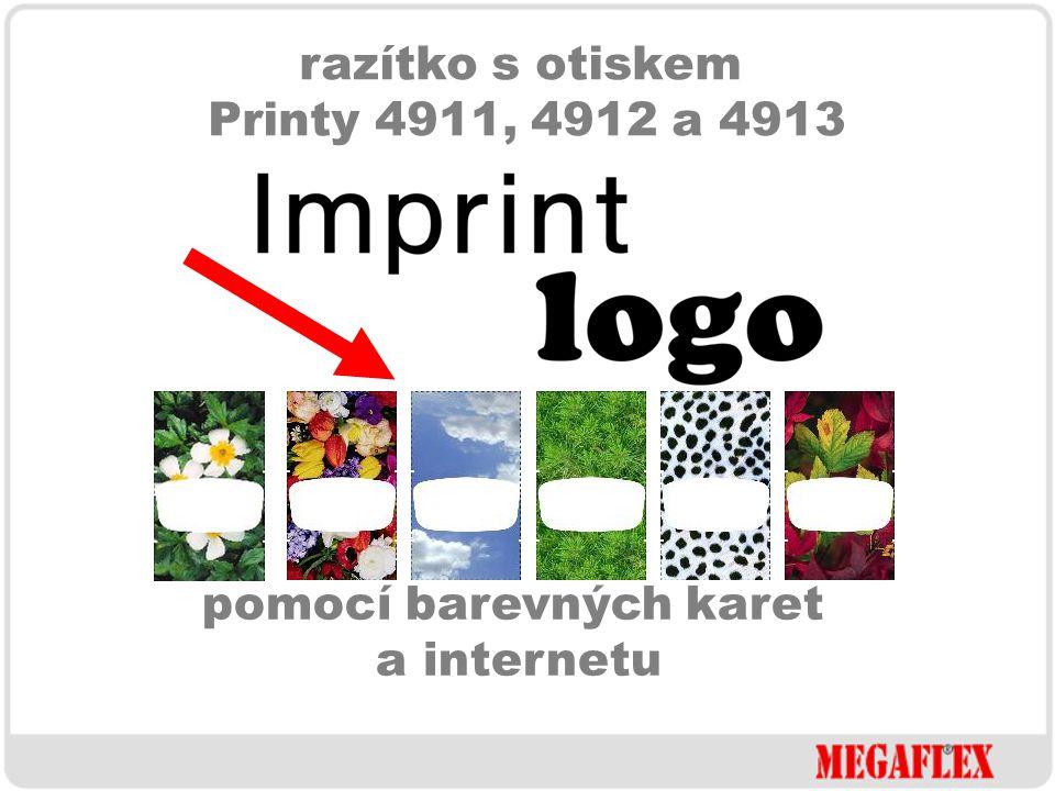 razítko s otiskem Printy 4911, 4912 a 4913 a navíc s možností měnit design samotného razítka