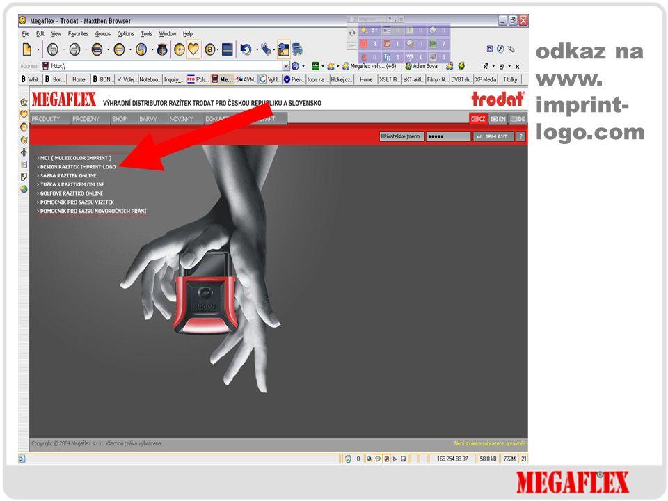 razítko s otiskem Printy 4911, 4912 a 4913 www.imprint-logo.com z www.megaflex.cz