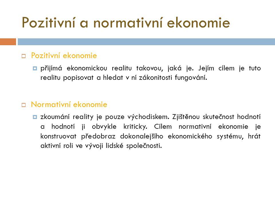 Obecná ekonomická teorie  Úvodem do studia ekonomických disciplín je obecná ekonomická teorie.