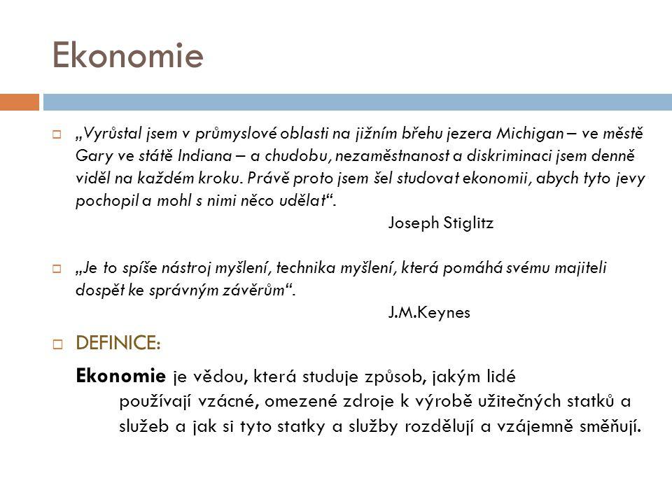 EKONOMIE Mikroekonomie I Ing. Veronika MAZALOVÁ, Ph.D.