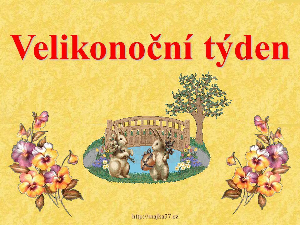 Pondělí - o Velikonočním pondělí zvaném také - Červené ( podle darování červeného vejce), Mrskaný pondělek, Pomlázkové hody - se nekonaly liturgické úkony, chodilo se však na pomlázku.
