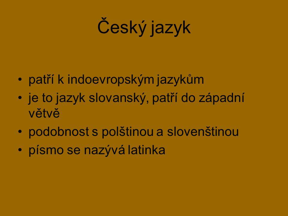 Historický vývoj češtiny 9.