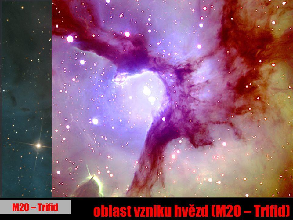 oblast vzniku hvězd (M20 – Trifid) M20 – Trifid