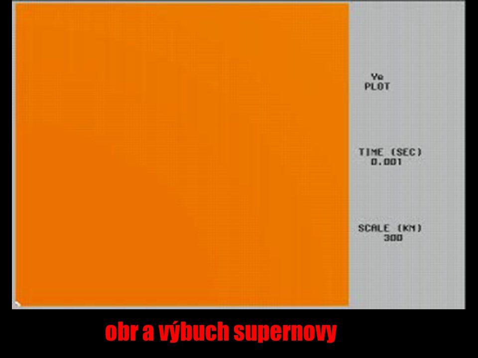 obr a výbuch supernovy