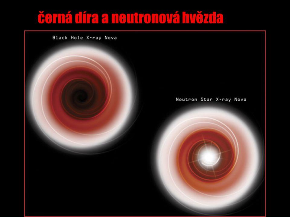 černá díra a neutronová hvězda