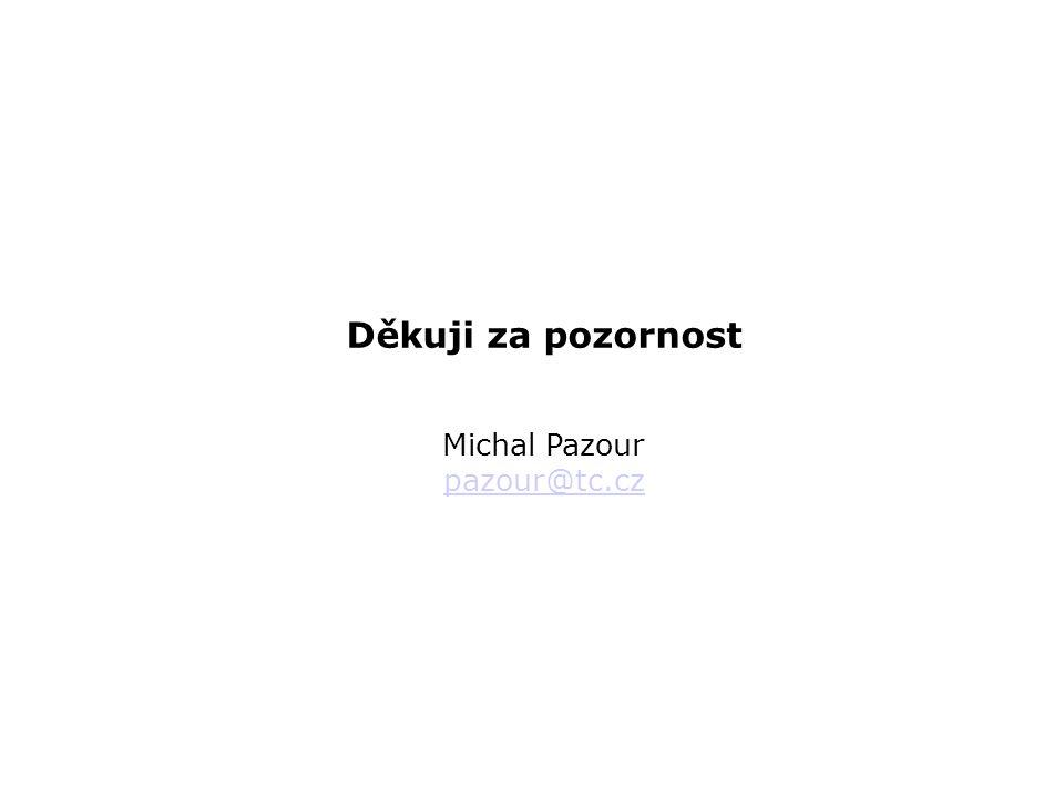Děkuji za pozornost Michal Pazour pazour@tc.cz