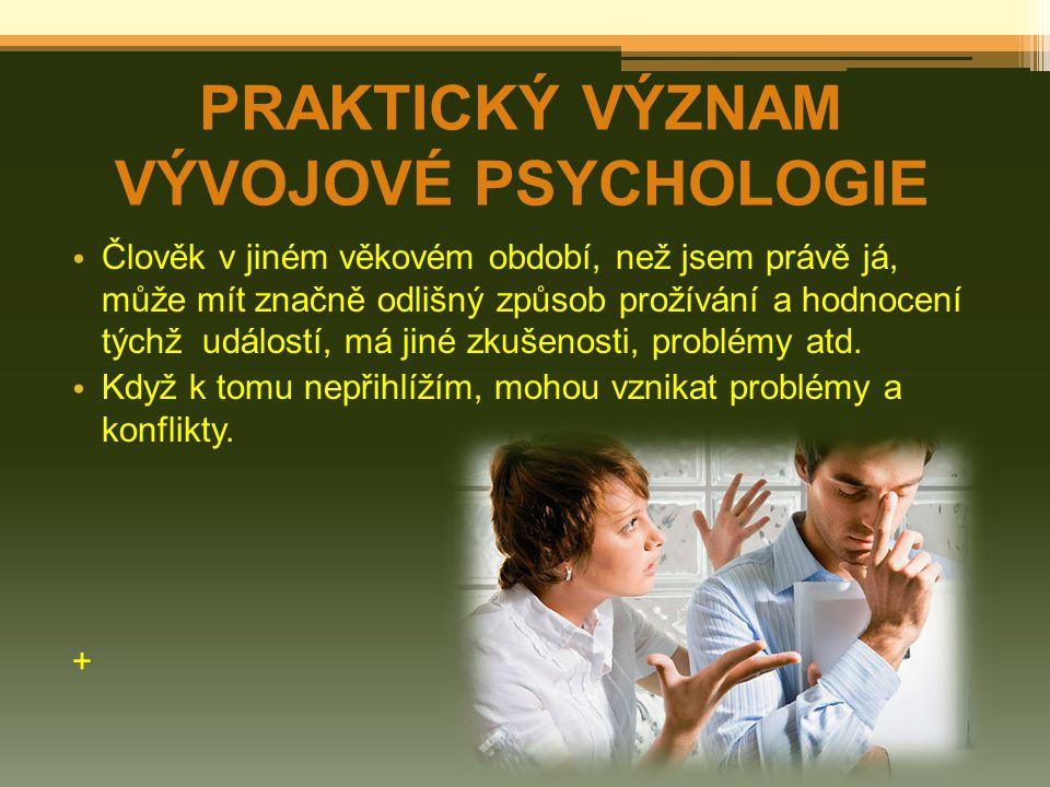 Duševní vývoj je dynamický progresivní proces, který se odehrává v čase a navozuje určité změny.