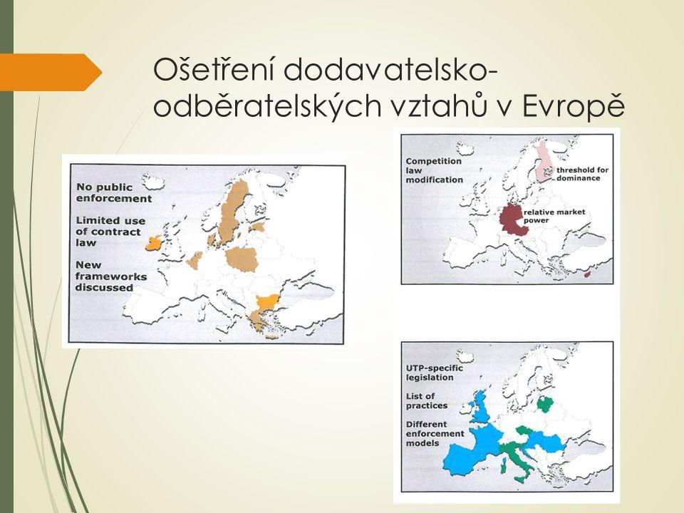 Ošetření dodavatelsko- odběratelských vztahů v Evropě