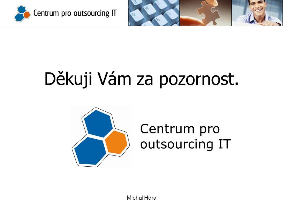 Michal Hora Děkuji Vám za pozornost. Centrum pro outsourcing IT