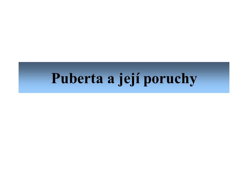 Puberta a její poruchy