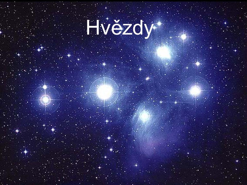 Složení hvězd složení zpravidla odpovídá složení mlhoviny ze které hvězda vznikla velké rozdíly v obsahu těžších prvků Hvězdy I.