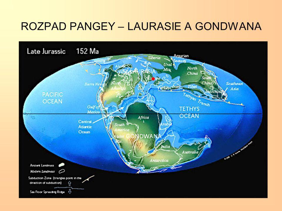 ROZPAD PANGEY – LAURASIE A GONDWANA