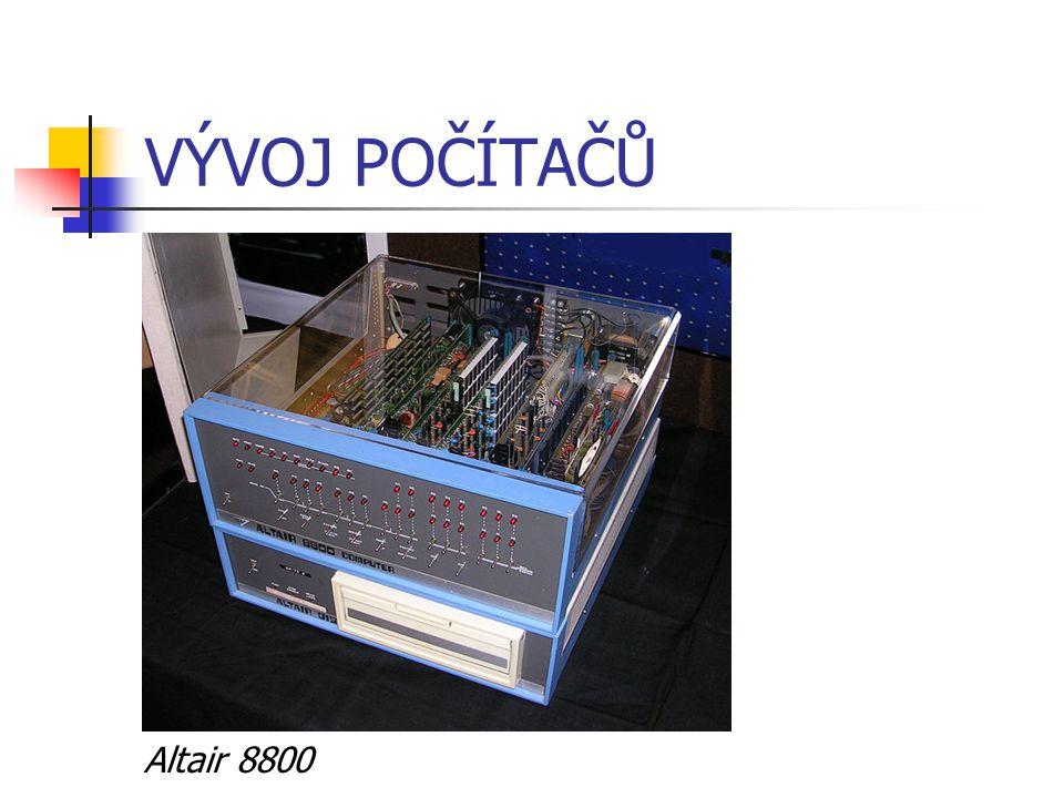 VÝVOJ POČÍTAČŮ Altair 8800