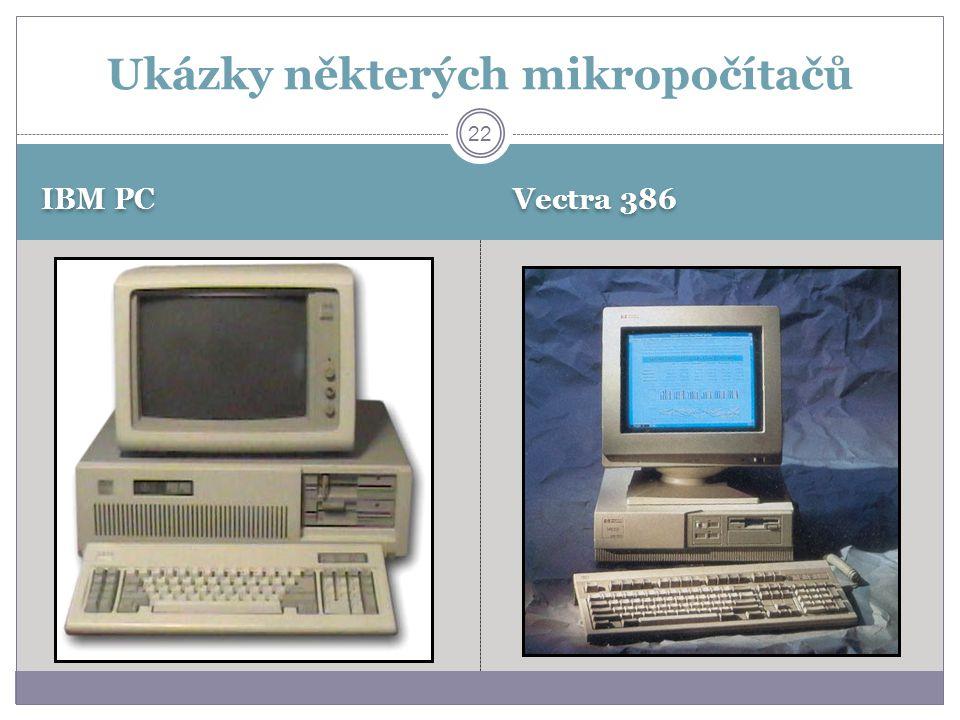 IBM PC Vectra 386 22 Ukázky některých mikropočítačů