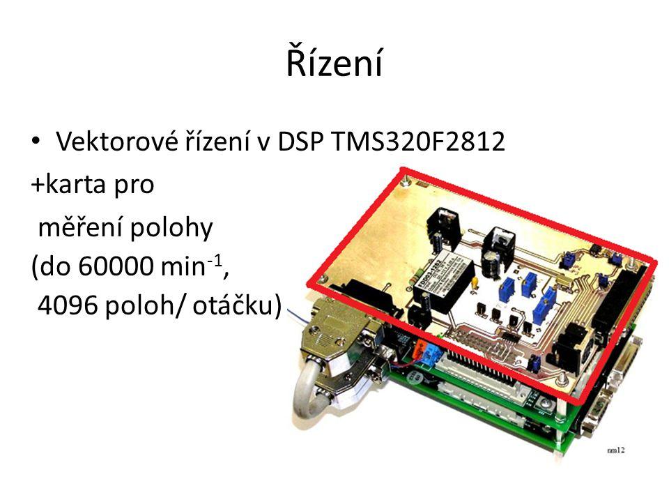 Řízení Vektorové řízení v DSP TMS320F2812 +karta pro měření polohy (do 60000 min -1, 4096 poloh/ otáčku)