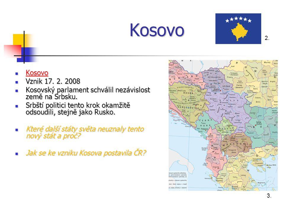 Kosovo Kosovo Kosovo Kosovo Vznik 17.2. 2008 Vznik 17.