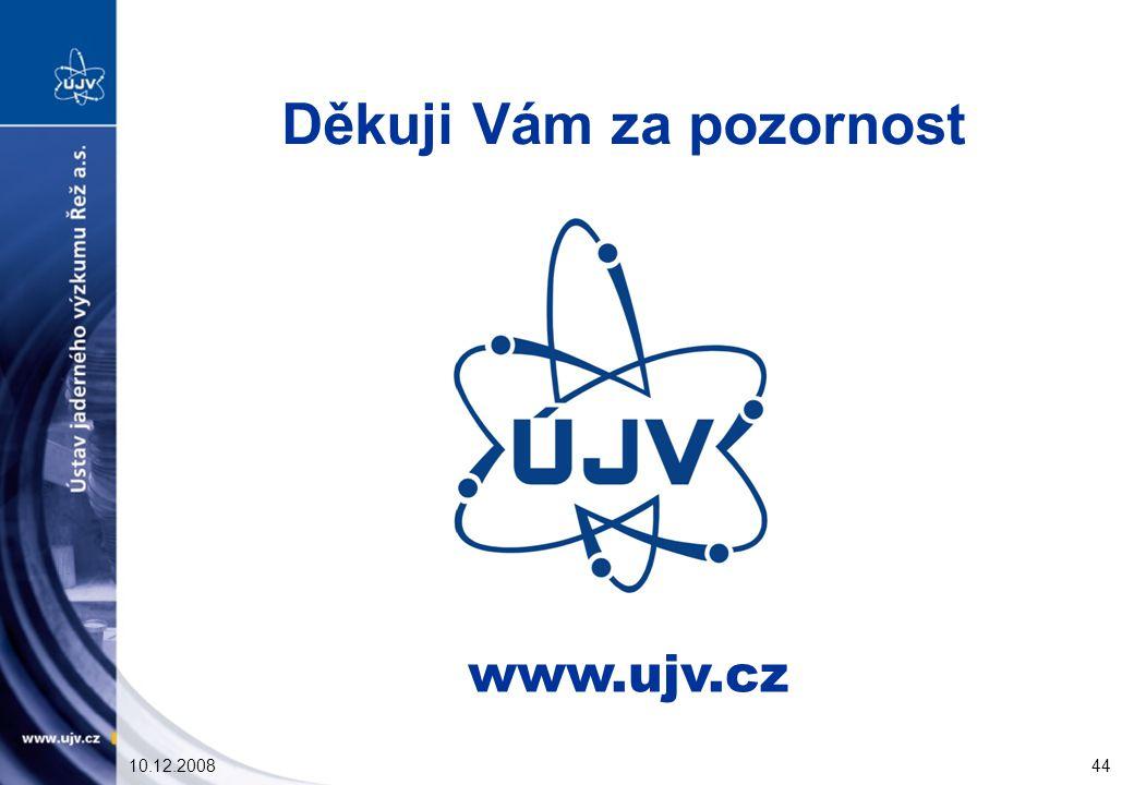 10.12.200844 www.ujv.cz Děkuji Vám za pozornost