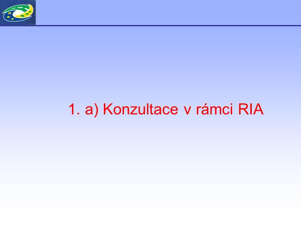 1. a) Konzultace v rámci RIA