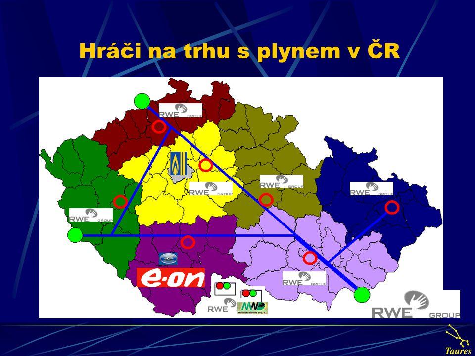 Hráči na trhu s plynem v ČR