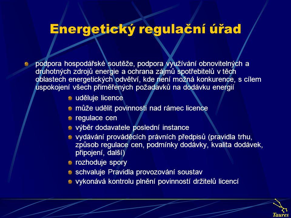 Energetický regulační úřad podpora hospodářské soutěže, podpora využívání obnovitelných a druhotných zdrojů energie a ochrana zájmů spotřebitelů v těc