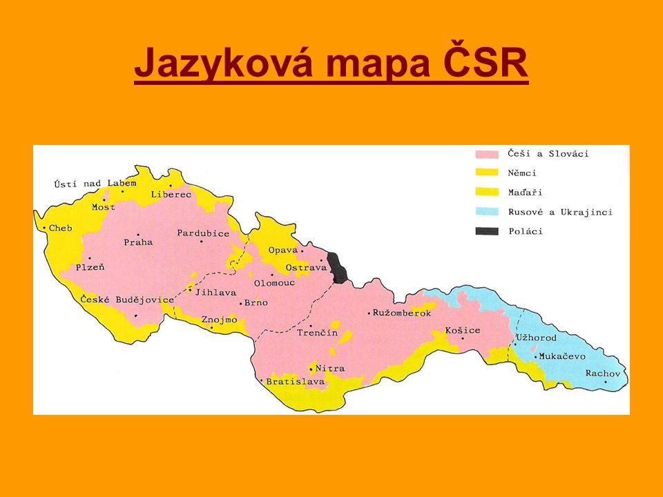 Jazyková mapa ČSR
