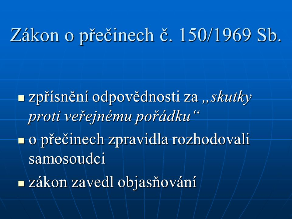 Zákon o přečinech č.150/1969 Sb.