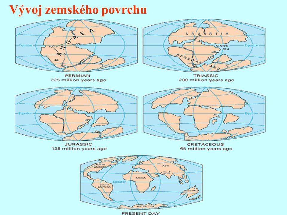 Zemská kůra - nejsvrchnější část zemského tělesa - různá mocnost - 6 - 40 km - ø 40 km - ČR - 27 - 50 km - spodní hranice - Mohorovičičova plocha odděluje ZK a svrch.